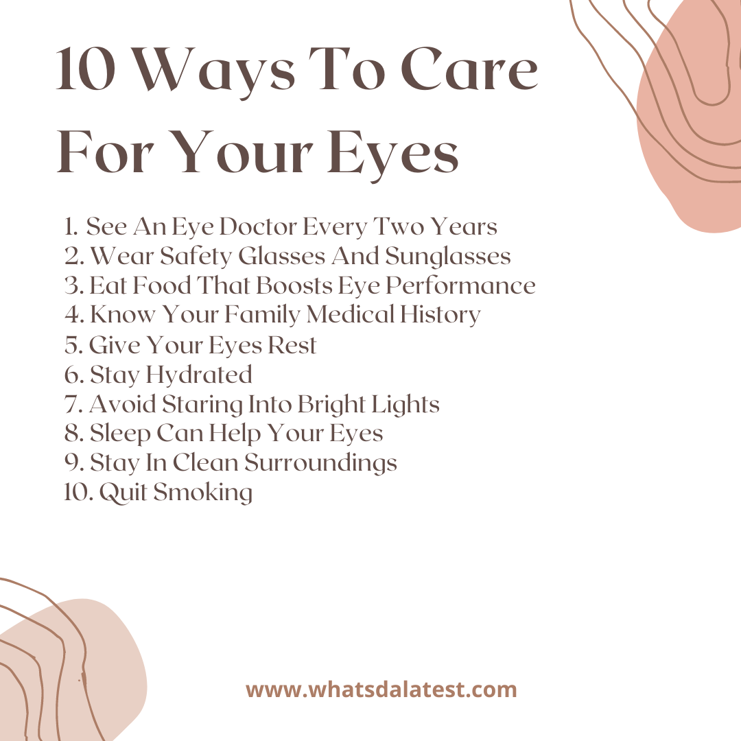 10 ways to care for your eyes